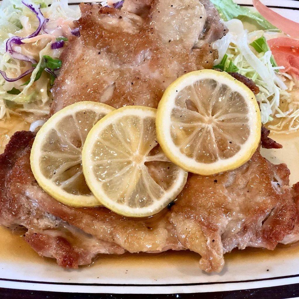 鶏のレモン焼き