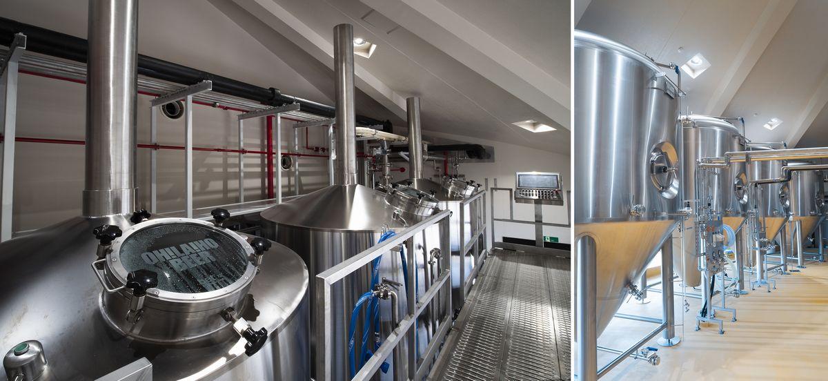 仕込み窯と発酵タンク